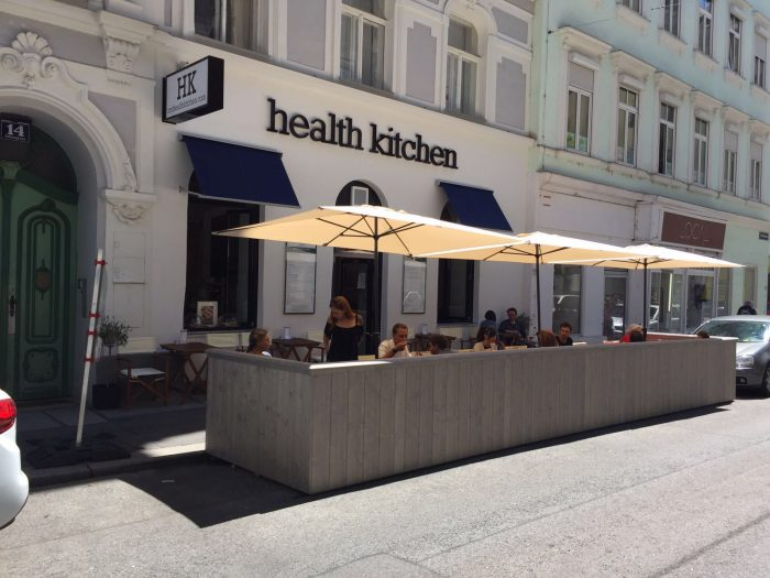 Health Kitchen - der Gastgarten